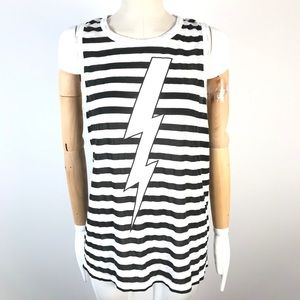 Chaser tank top thunder striped